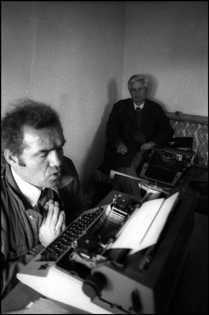 ALBANIA. Tirana.  Journalists in the Newspaper Rilindia Demokratike. 1992.