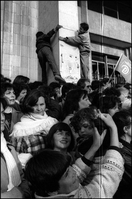 ALBANIA. Tirana. Elections campaign for the Democratic party. 1992.