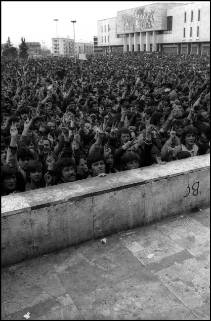 AALBANIA. Tirana.  Elections campaign of the Democratic party.  1992.