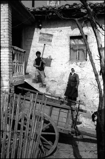 LBANIA. Tirana.  Elections campaign for the Democratic party.  1992.