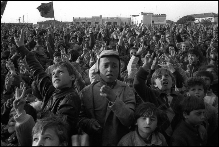 ALBANIA. Kavaje.  Elections campain of the Democratic party.  1992.