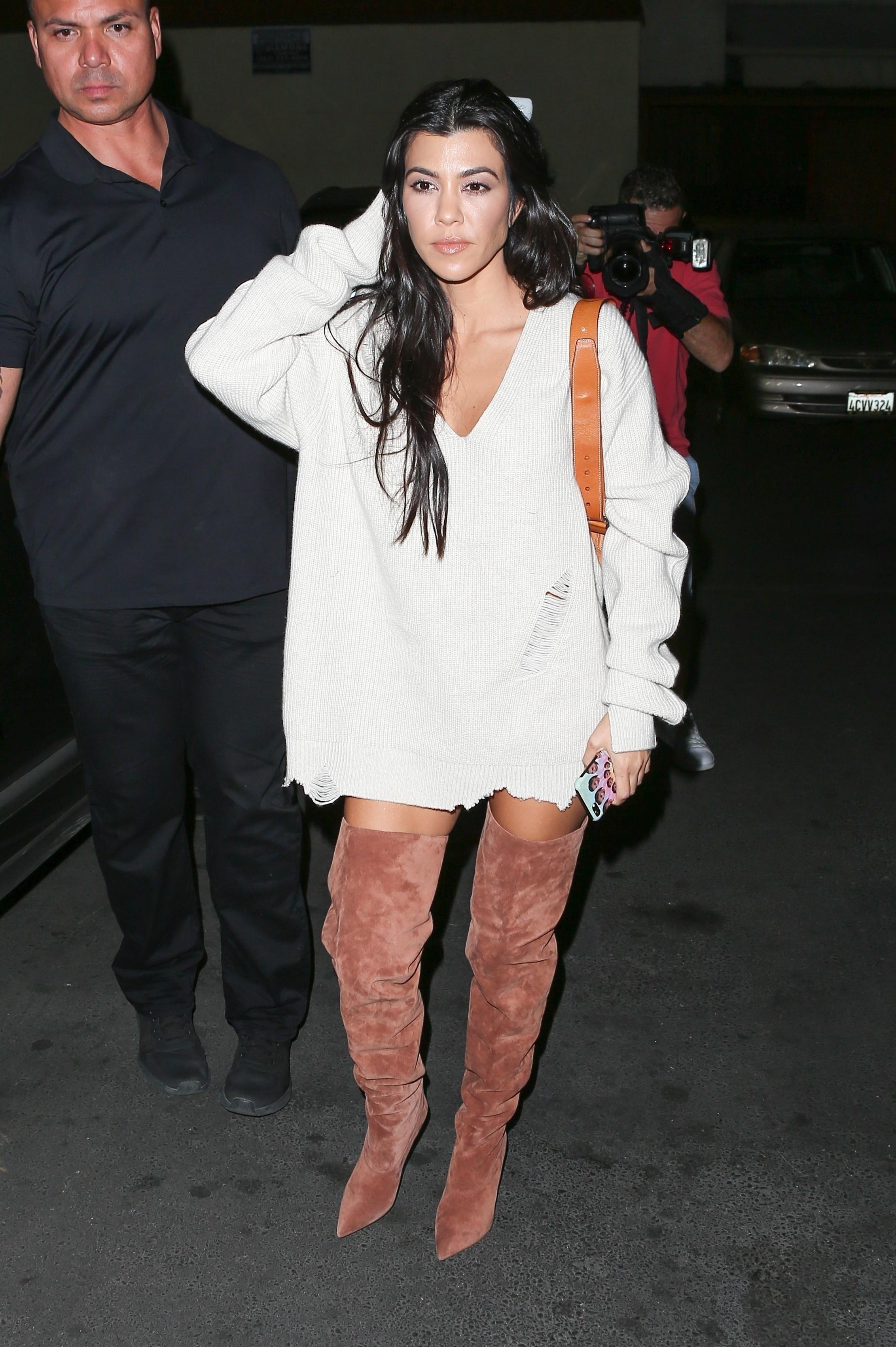 The Kardashian celebrates Kim's birthday at Carousel Restaurant in LA