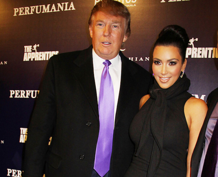 Donald Trump and Kim Kardashian