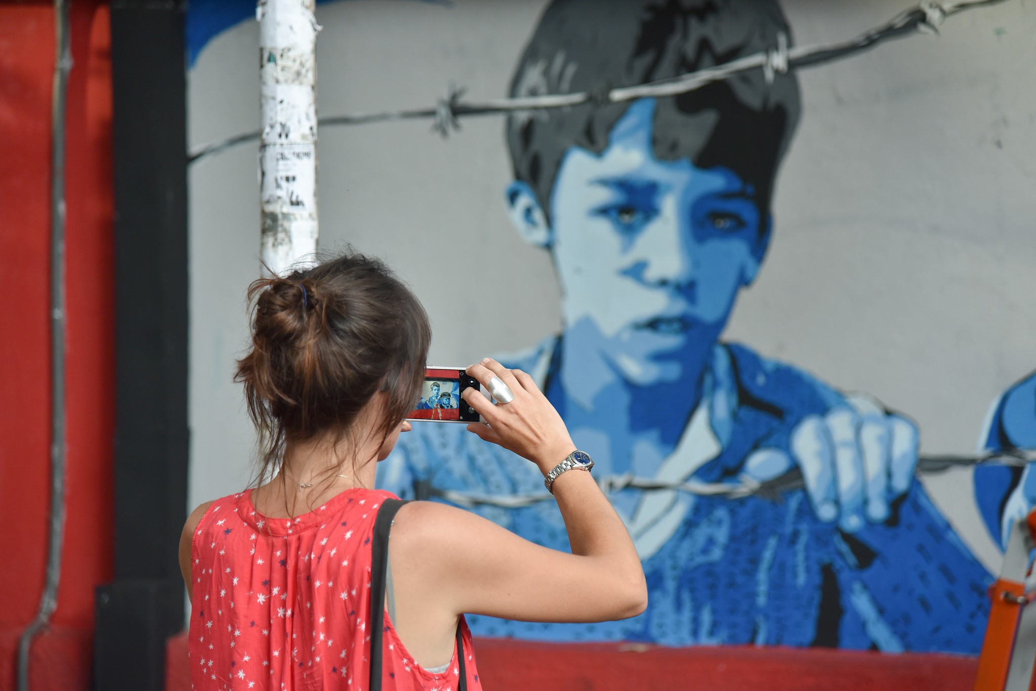 Veliaj me artistet pjesemarres ne Mural Fest 3