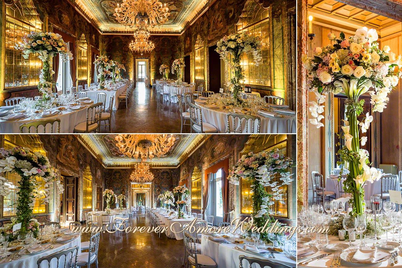 07-giant wedding centerpieces in villa erba