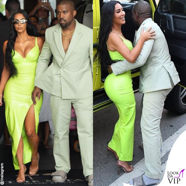 Kim-Kardashian-abito-atsuko-kudo-scarpe-Gianvito-Rossi-Kanye-West-abito-Louis-Vuitton-ciabatte-Yeezy-1