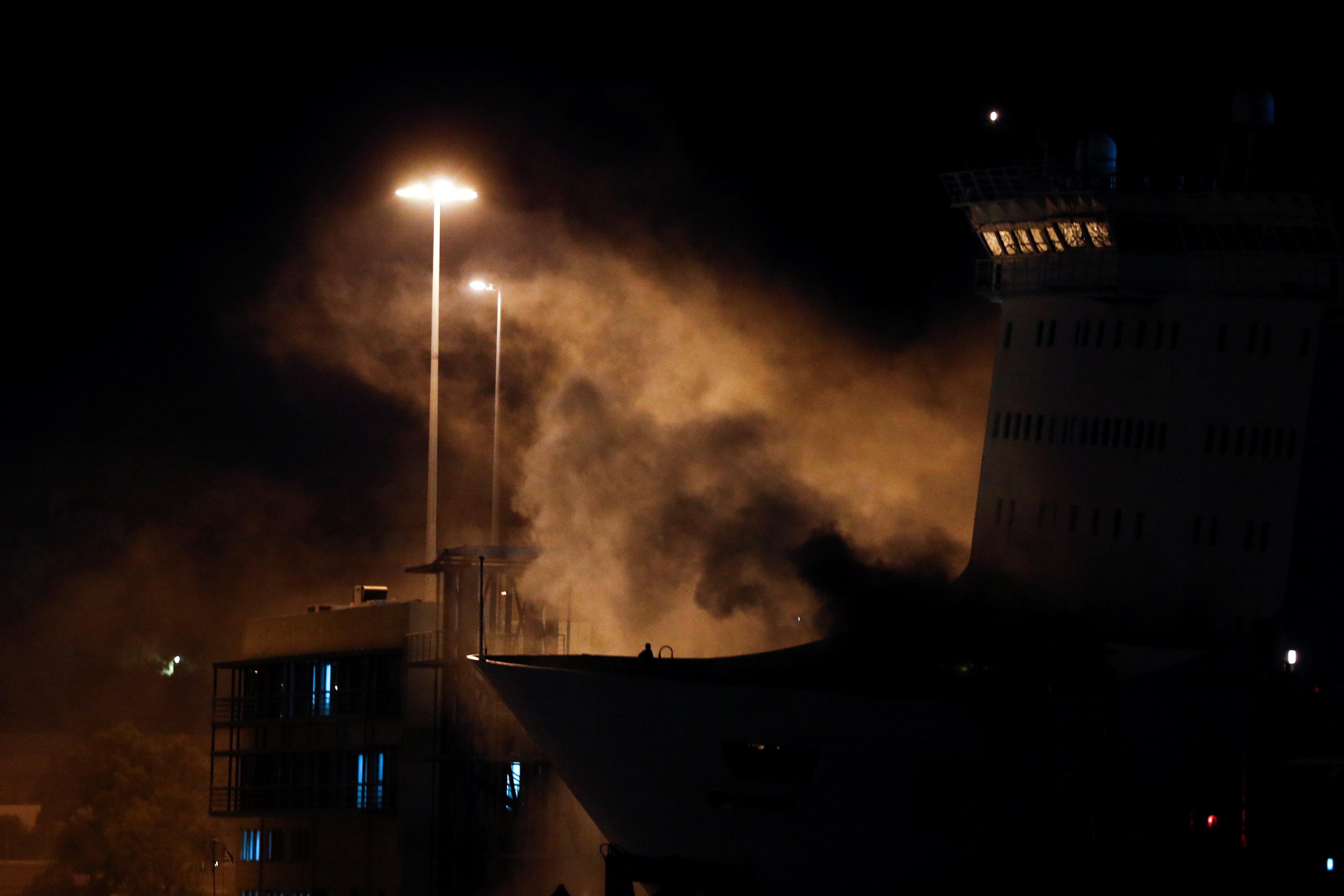 Fire on the Eleftherios Venizelos ferry
