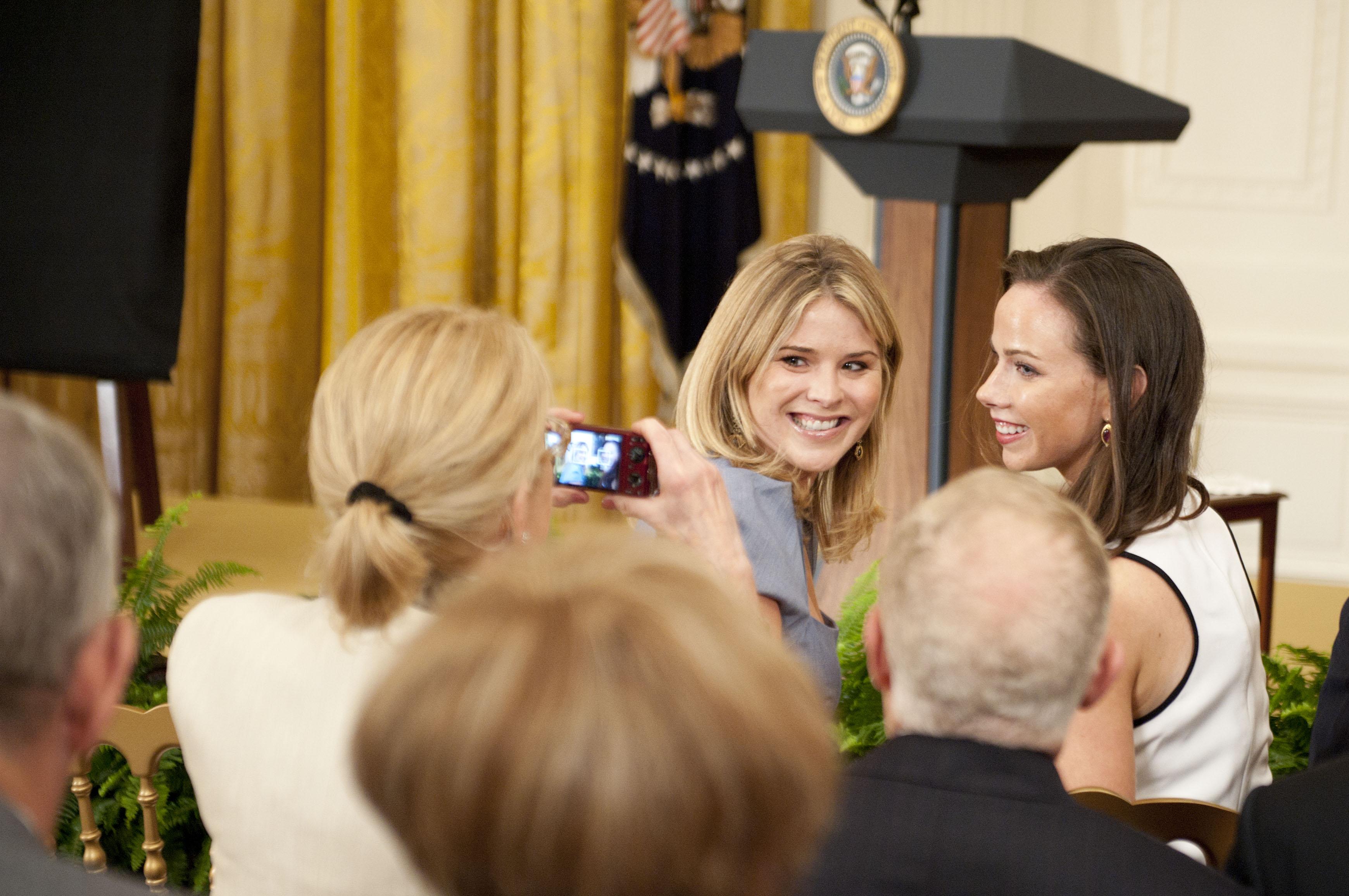 George W. Bush And Laura Bush White House Portrait Unveiling