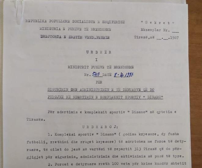 Dokumenti/ Si u ndërtua kompleksi Dinamo nga 100 të dënuar politikë