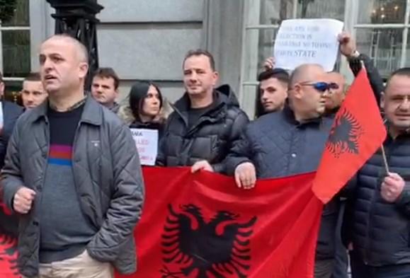shqiptaret proteste ne londer