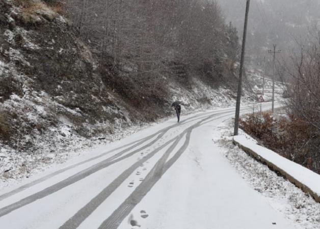 Fillojnë reshjet e borës në Dardhë të Korçës