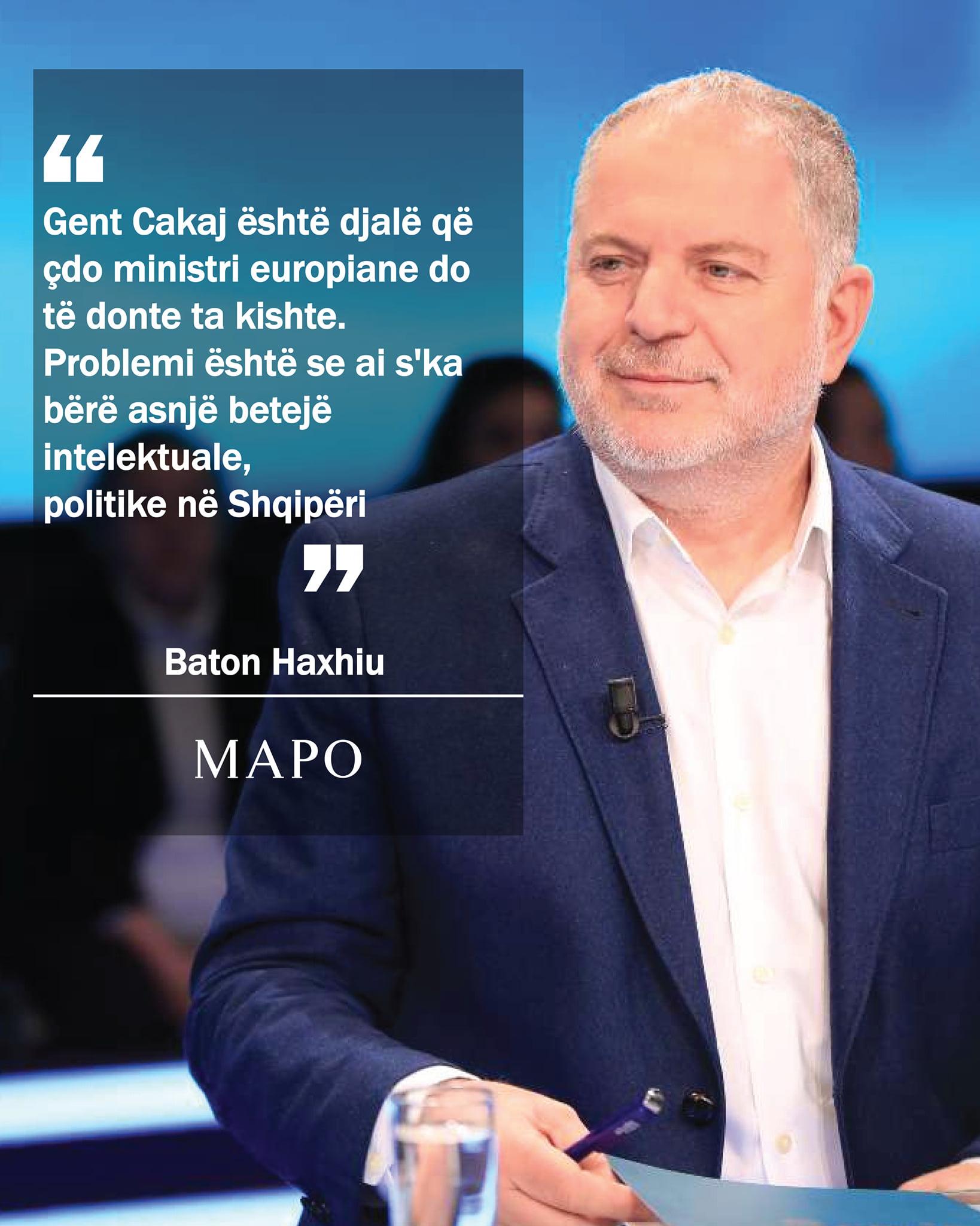 Baton Haxhiu komenton largimin e Gent Cakajt
