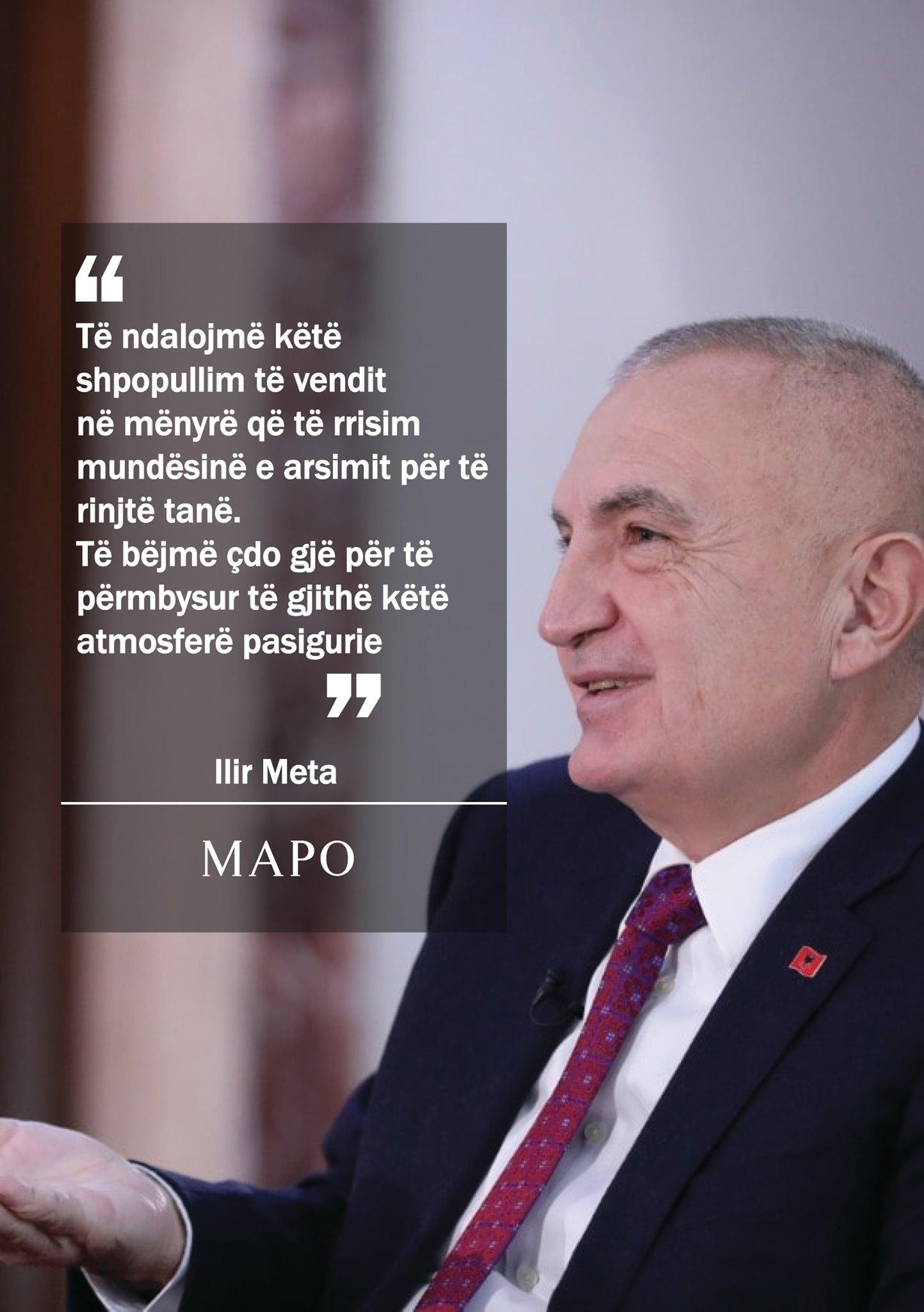 Ilir Meta: Të ndalojmë shpopullimin e vendit
