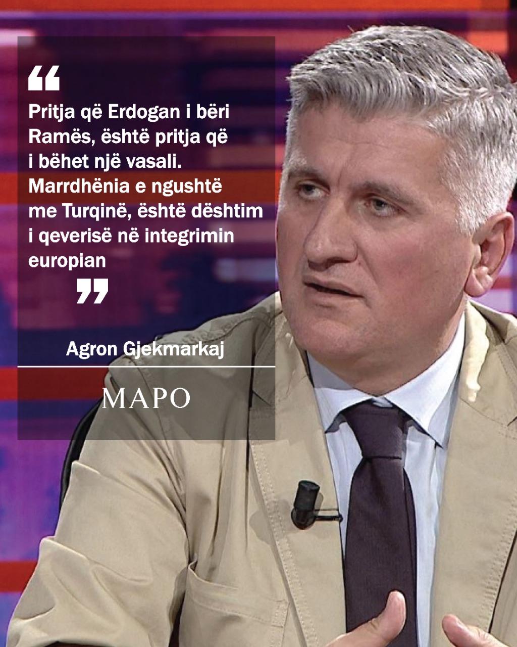 Gjekmarkaj: Pritja që Erdogan i bëri Ramës, është pritja që i bëhet një vasali