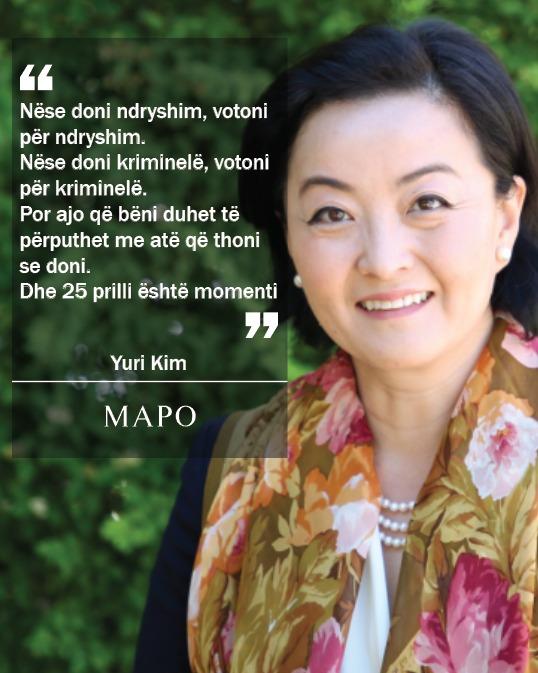 Yuri Kim: Nëse doni ndryshimin bëjeni, 25 prilli është momenti