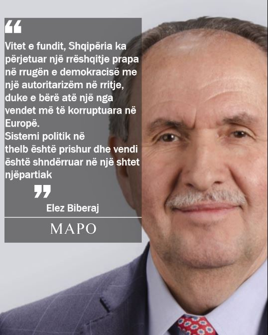 Biberaj: Shqipëria e korruptuar e njëpartiake, autoritarizmi gjithnjë në rritje