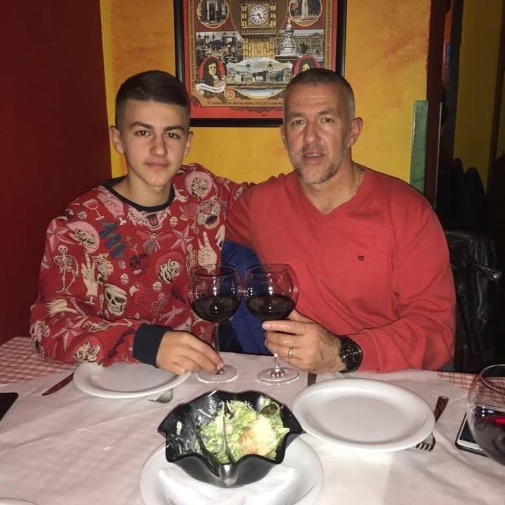 Erzen Brecani dhe djali