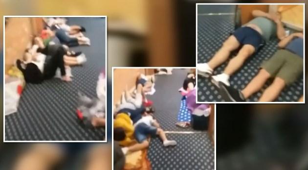 """Skandal në tragetin """"Adria Ferries"""", shqiptarët flenë në korridor (VIDEO)"""