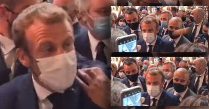 VIDEO/ S'kanë të ndalur incidentet për Macron, pas shuplakës e godasin me...